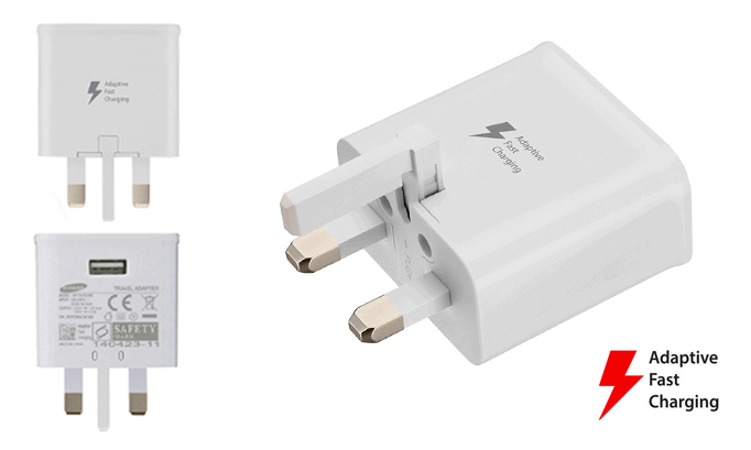 Genuine Samsung Fast Adaptive Charger Plug Charging Adapter Mains Wall Power Outlet