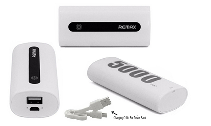 Genuine Remax 5000mAh Power Bank Mini Portable Charger Charging Dock