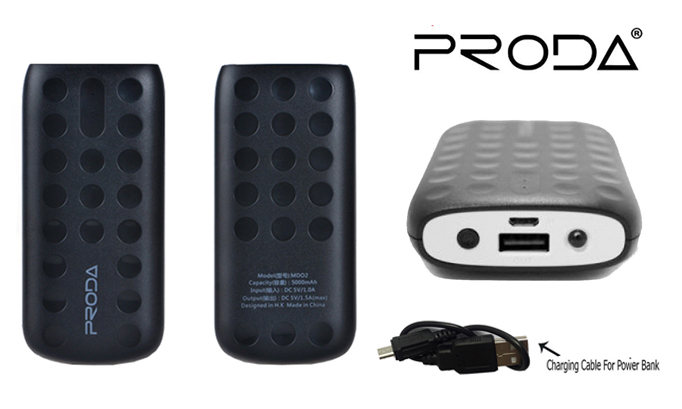 Genuine Proda 5000mAh Power Bank Portable Charger Charging Dock Battery Back-Up