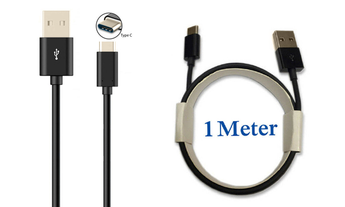 Universal 1M USB-C Type-C Charging Cable Mains Charger Lead Data Transfer Cord Power Wire